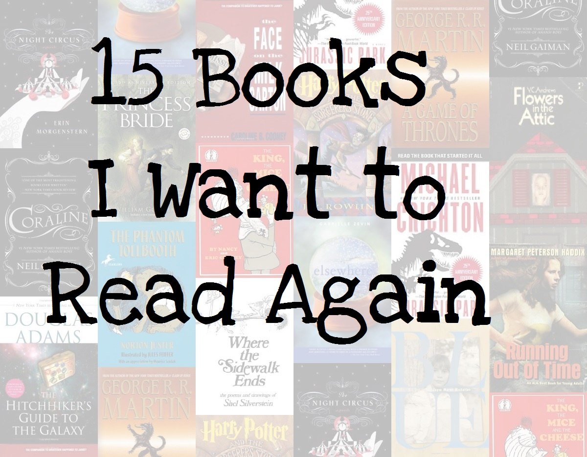 15 Books I Want to Read Again - Title Image
