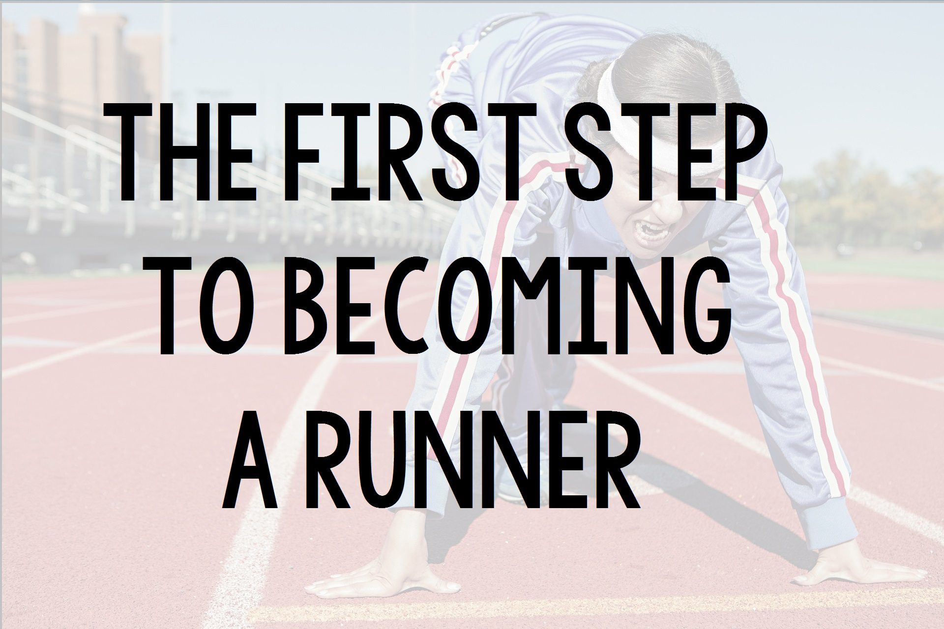 First Step Runner Title Photo